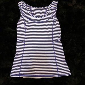 Lululemon Blue/White Striped Tank Top w/ Pocket 8